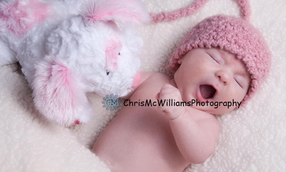 Sleepy One Month Old Baby (Winnipeg Baby Photographers) (3/3)