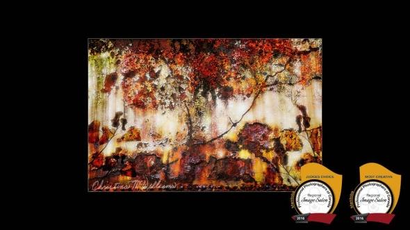 Autumn's Palette au MetalChristina McWilliams 10 Fine Art,