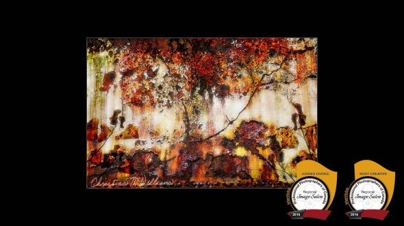 Autumn's Palette au MetalChristina McWilliams 10 Fine Art,