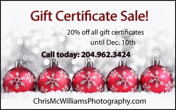 Winnipeg Christmas Gift Certificate